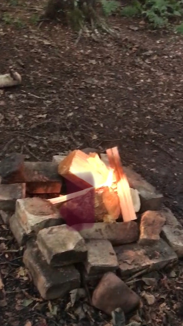 Campfire at Brockwell Woods